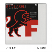 Fredrix Artist Series Red Label Canvas 9 x 12 Case of 6