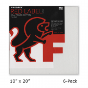 Fredrix Artist Series Red Label Canvas 10 x 20 Case of 6
