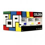 Golden SoFlat Matte Acrylic 2oz Pop Set of 6
