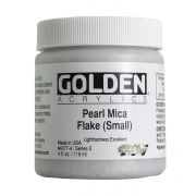 Golden Heavy Body Iridescent Gold Mica Flake Small 4 oz