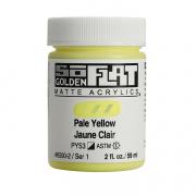 Golden SoFlat Matte Acrylic 2oz Pale Yellow S1