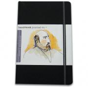 Handbook Travelogue Journal Portrait 3.5 x 5.5 Black
