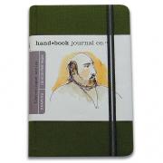 Handbook Travelogue Journal Portrait 3.5 x 5.5 Green
