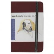 Handbook Travelogue Journal Portrait 3.5 x 5.5 Red
