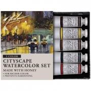 M. Graham Cityscape Artists 5 Color Watercolor Set