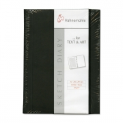 """Hahnemühle  Sketch Diary A4 8.3"""" x 11.7"""" Black"""