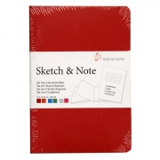Hahnemühle Sketch & Note Booklets Red/Orange Bundle A6