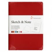 Hahnemühle Sketch & Note Booklets Red/Orange Bundle A5