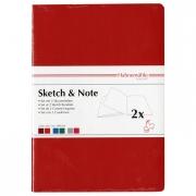 Hahnemühle Sketch & Note Booklets Red/Orange Bundle A4