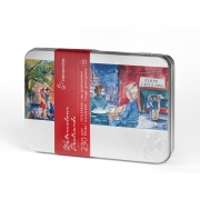 """Hahnemuhle 4""""x6"""" Watercolor Postcards Rough 30 sheets in tin"""