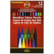 Koh-i-noor Progresso Woodless Color Pencils Set of 12