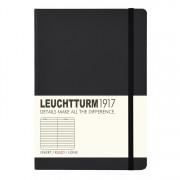 Leuchtturm Medium Book Lined Black