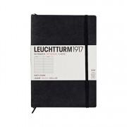 Leuchtturm 1917 Medium A5 Ruled Softcover Notebook Black