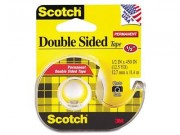 """Scotch 137 Double Coated Tape with Dispenser .5"""" x 45 Yards"""
