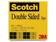 "Scotch 665 Double Sided Tape .5"" x 36 Yards"