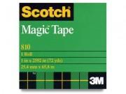 "Scotch 810 Magic Tape 1"" Core 1"" x 72 Yards"