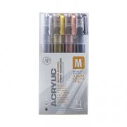 Montana Acrylic Marker Metallic Extra Fine Set of 4