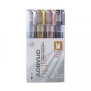Montana Acrylic Marker Metallic Fine Set of 4