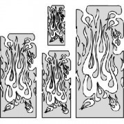Artool Freehand Airbrush Template Flame Master Multiple FH FM2