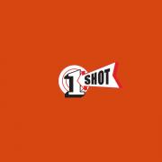 1 Shot Lettering Enamel Sign Paint Vermillion 8 oz - SPECIAL ORDER