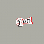 1 Shot Lettering Enamel Sign Paint Medium Gray 8 oz - SPECIAL ORDER