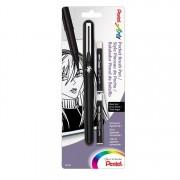 Pentel Artsr Pocket Brush Pen with Refills, 1 Pen & 2 Refill