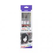 Pentel Artsr Color Brush™ Set,  Black,Gray,Sepia, Aquash™ Wa