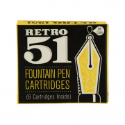 Retro 1951 Fountain Pen Refill 6 Pack Black