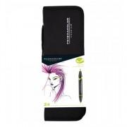 Prismacolor Premier Double-Ended Brush Marker 24 Marker Set with Case