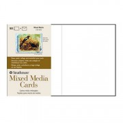 Strathmore Mixed MediaBlank  Greeting Cards 50 Pack