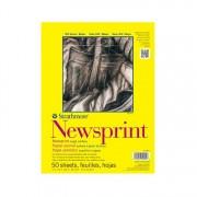 Newsprint Rough 9x12 50sh Pad
