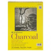Charcoal Pad Spiral 9x12