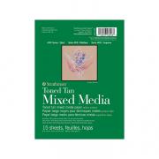 Toned Mixed Media Paper Pads 6x8 Tan 15sh