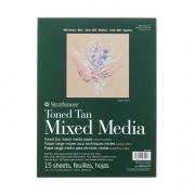 Toned Mixed Media Paper Pads 400 Series 9x12 Tan 15sh