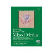 Toned Mixed Media Paper Pads 400 Series 11x14 Tan 15sh