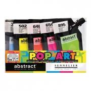 Sennelier Sennelier Abstract Acrylic Pop Art Fluorescent Color Set of 5