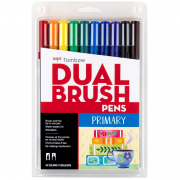Tombow ABT Dual Brush Marker Pen Set of 10 Primary