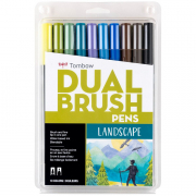 Tombow ABT Dual Brush Marker Pen Set of 10 Landscape