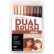 Tombow ABT Dual Brush Marker Pen Set of 10 Portrait