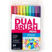Tombow ABT Dual Brush Marker Pen Set of 10 Bright