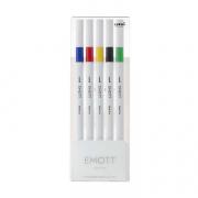 Emott Fineliner 5 Pen Set #1 Blue, Red, Yellow, Black, Green