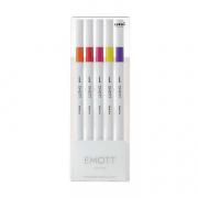 Emott Fineliner 5-Pen Set #2 Org, Verm, Pink, Lem, Fuschia