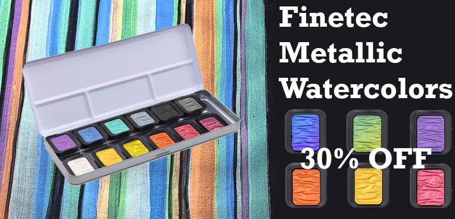 finetec metallic watercolors 30 percent off