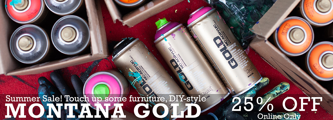 summer sale on montana gold spray paint, touch up furniture diy style with montana gold 25 percent off