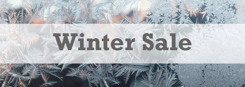 winter sale snowflakes and frost