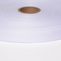 1in. Poly Twill Tape White