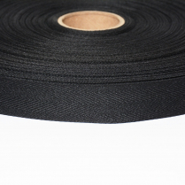1in. Poly Twill Tape Black