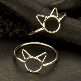 Sterling Silver Small Cat Ring