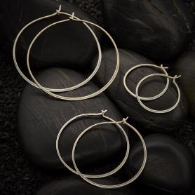 Half Hammered Hoop Earrings - Shop by Design