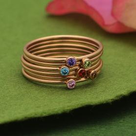 Rose Gold Filled Birthstone Rings - Express Order Form